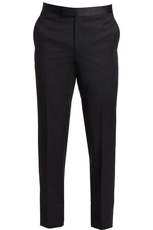 Saks Fifth Avenue Men Formal Trousers - COLLECTION Wool Tuxedo Trousers