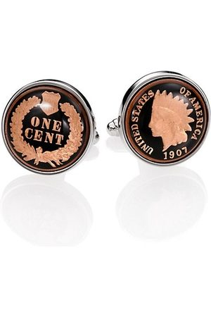 David Donahue Men Neckties - Authentic Indian Head Coin Cuff Links