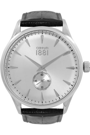 Cerruti 1881 Men Silver-Toned Clusone Analogue Watch CRA24005