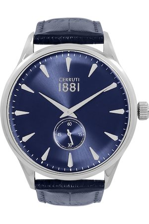 Cerruti 1881 Men Blue Analogue Leather Watch CRA24004