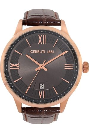 Cerruti 1881 Men Brown & Black Analogue Watch CRA23802