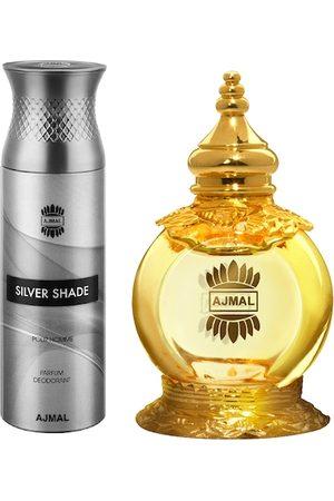 Ajmal Set of Unisex Mukhallat Al Wafa Perfume & Men Silver Shade Parfum Deo (200ml+12ml)