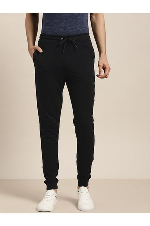 Invictus Men Black Solid Joggers