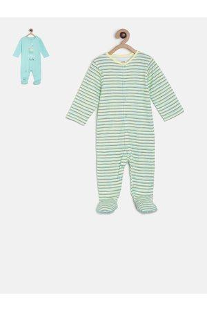 MINI KLUB Infants Boys Pack Of 2 Sleepsuits