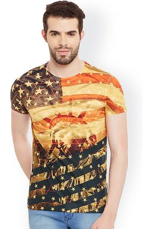 Wear Your Mind Men Multicoloured Printed Round Neck T-shirt