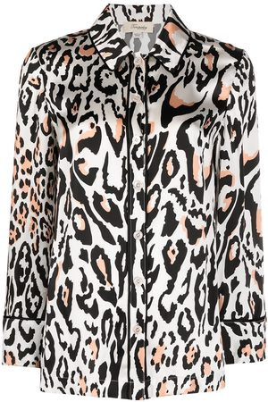 TEMPERLEY LONDON Elpis wildcat print pyjama shirt