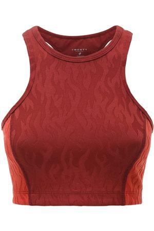 TWENTY MONTREAL Women Sports Bras - Flames 3d Activewear Bra