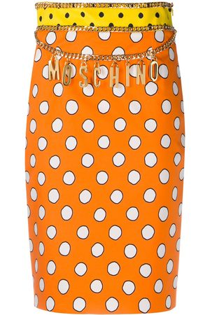 Moschino Polka dot logo skirt