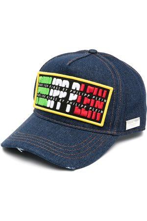 Philipp Plein Hats - Logo-patch denim cap