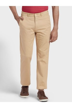 ColorPlus Men Beige Regular Fit Solid Chinos