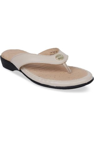 Scholl Women Beige Solid Leather Heels