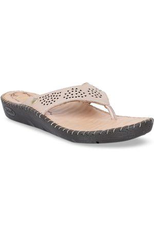 Scholl Women Beige Solid Comfort Heels