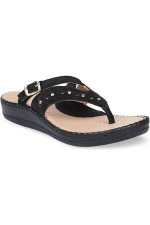 Scholl Women Black Embellished Comfort Heels