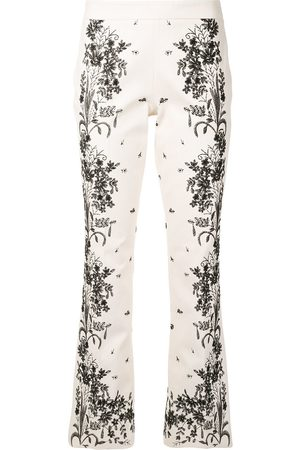 Giambattista Valli Floral-embroidery flared trousers