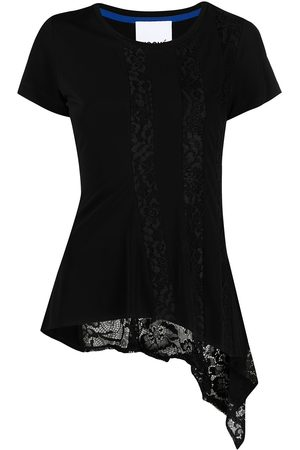 KOCHÉ Lace-embroidered panel T-shirt
