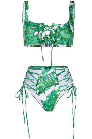 Noire Swimwear Jungle high-waist bikini bottoms