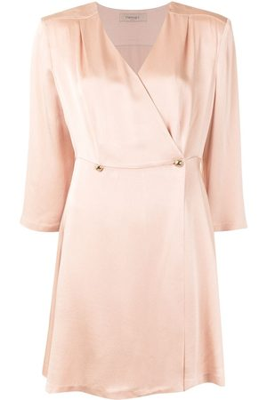 Twin-Set Satin wrap dress