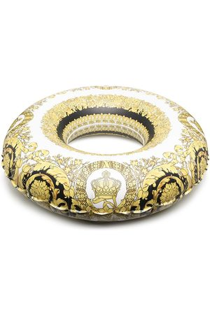 VERSACE Baroque print inflatable ring