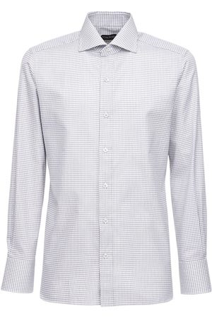 Tom Ford Graphic Gingham Cotton Shirt