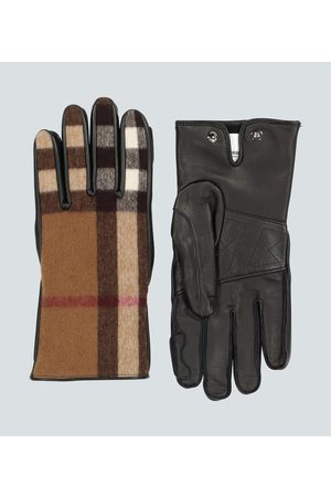 Burberry Men Gloves - Leather and wool gloves