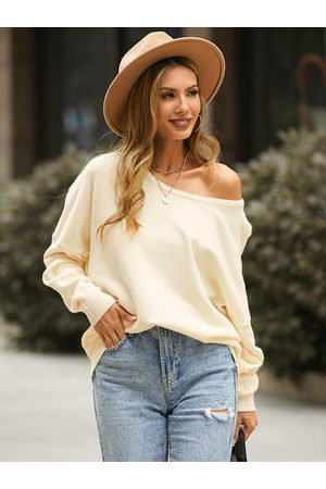 YOINS Casual Round Neck Long Sleeves Sweater
