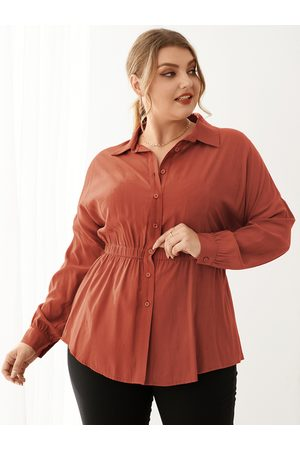 YOINS Plus Size Classic Collar Long Sleeves Blouse