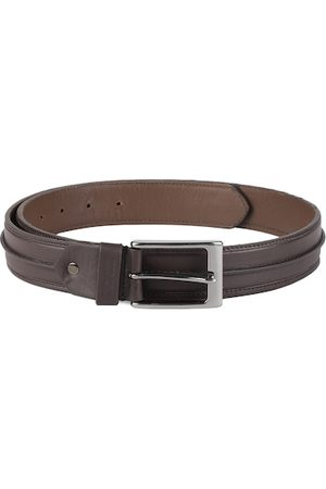 DUCATI Men Brown Solid Leather Belt