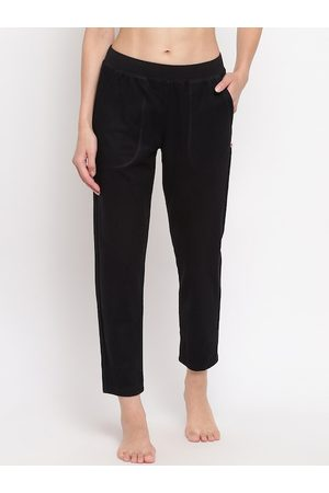 ENAMORA Women Black Solid Lounge Pants