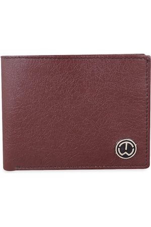 TnW Men Brown Solid Two Fold Wallet