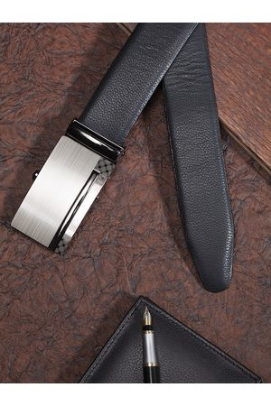 Highlander Men Black & Tan Brown Reversible Solid Belt