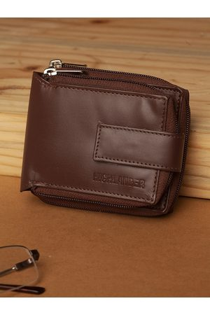 Highlander Men Brown Solid Zip Around Wallet