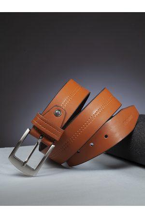 Highlander Men Tan Brown Solid Belt