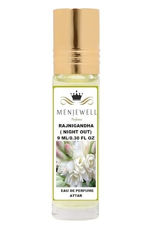 Menjewell Rajnigandha Natural Eau de Parfum Attar 9ml
