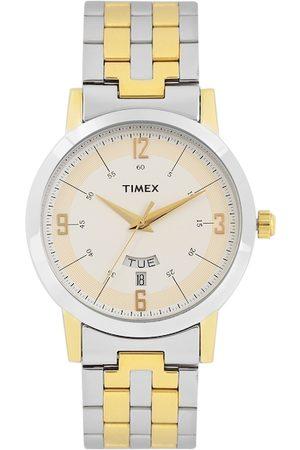 Timex Men Cream-Coloured Analogue Watch TW000T120