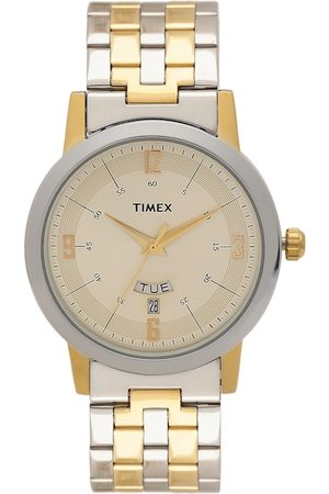 Timex Men Watches - Men Gold-Toned Analogue Watch TW000T121