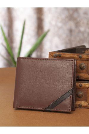 Highlander Men Brown Solid Two Fold Wallet