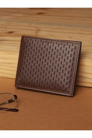 Highlander Men Wallets - Men Coffee Brown Laser Cut Two Fold Wallet