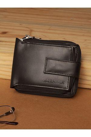 Highlander Men Black Solid Zip Around Wallet