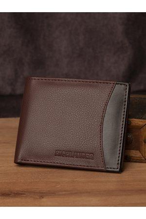 Highlander Men Brown & Black Colourblocked Two Fold Wallet