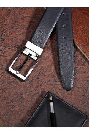 Highlander Men Brown Textured Reversible Belt