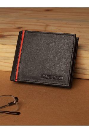 Highlander Men Black Solid Two Fold Wallet