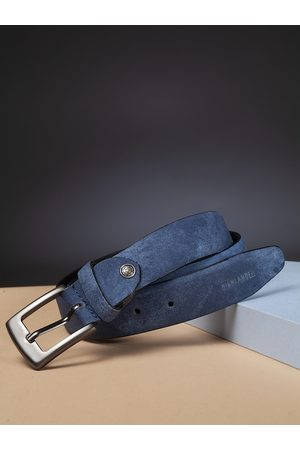 Highlander Men Blue Solid Belt with Denim Effect