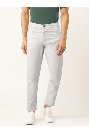 Benetton Men Blue Slim Fit Solid Chinos