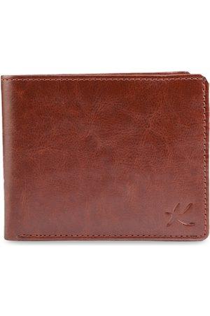 Kastner Men Brown Solid Two Fold Wallet