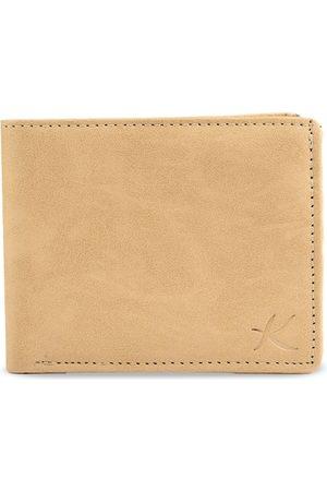 Kastner Men Cream-Coloured Solid Two-Fold Wallet