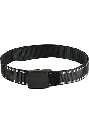 Kastner Men Black Solid Canvas Belt