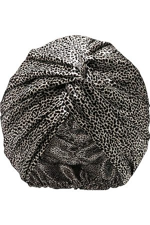 Slip Pure Silk Turban in Leopard