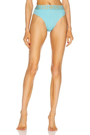 VERSACE High Waisted Bikini Bottom in Splash