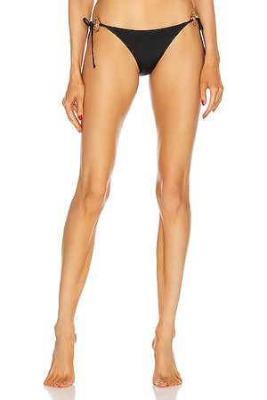 VERSACE Side Tie Bikini Bottom in Nero