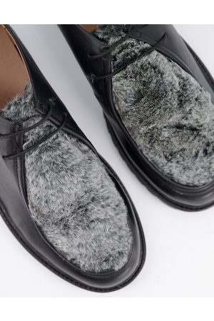 H by Hudson Sledge Faux fur shoes in